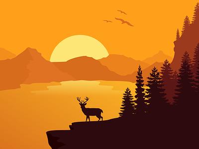 Sunshine vector art illustration
