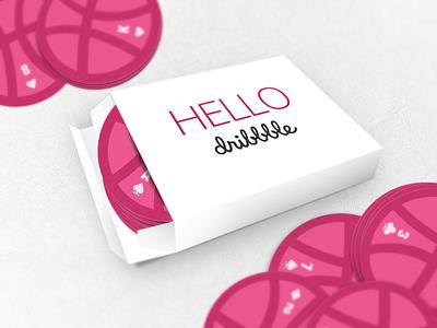 Hello Dribbble vector game cards 3d dribbble hello dribbble