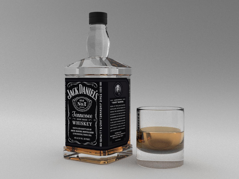 3D model whiskey by Jakub Bezděka | Dribbble | Dribbble
