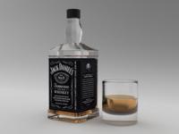 3D model whiskey