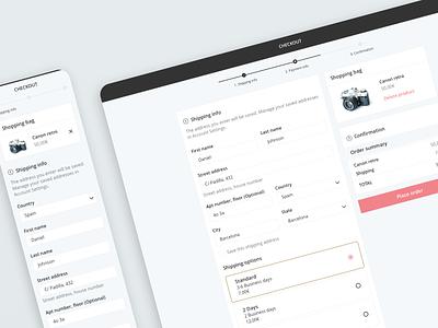 Responsive Checkout ui responsive design ecommerce mobile ui mobilefirst