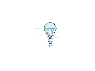 Balloon balloon sky blue illustration icon