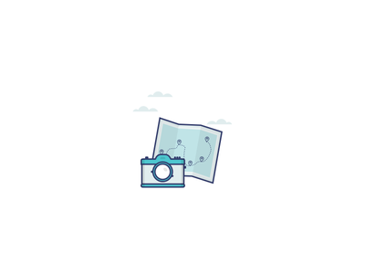 Camera sky camera blue illustration icon