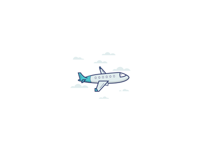 Plane sky plane blue illustration icon