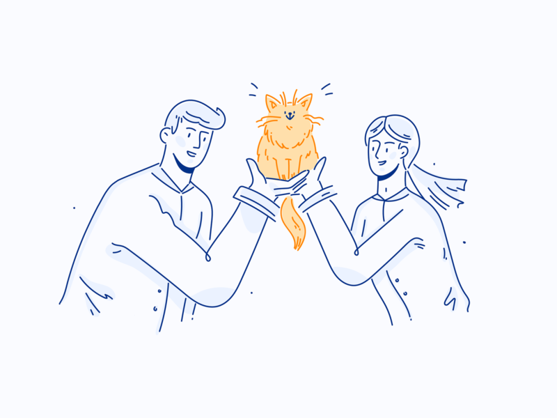 Afterclap Illustrations web illustration ui design success done no connection animal care app illustration lineart uxui vector flat character design character illustration design
