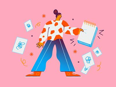 List Is Empty web illustration character design illustrator illustration character design