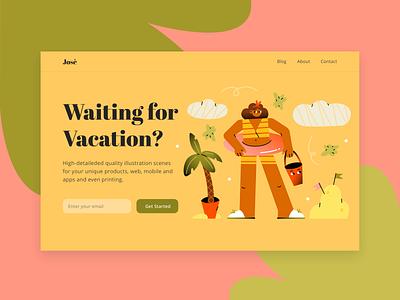 Vacation ui illustration flat vector illustrations illustration pack web illustration character character design illustration design