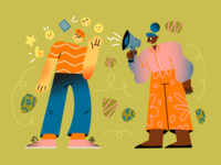 Message sent colorful illustration pack jose ui illustration web illustration vector character design character illustration design