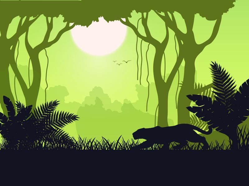 Walk on the Wild Side concept vector draw wild illustator design colour dribbble