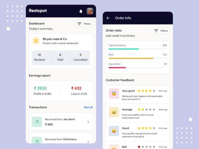 Restspot - Partner app for restaurant ( Concept)