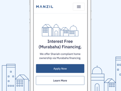 Manzil Landing Page Mobile landingpage marketingpage website mobileui