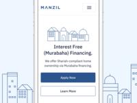 Manzil Landing Page Mobile