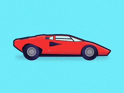 Countach cool color lamborghini car icons icon illustration