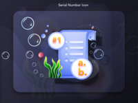 Scuba Online Saas Store: #6 Serial Number Icon