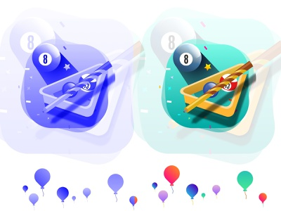 #5 Poker Games : A or B? gamification badges gamification badges design ui vector illustration billiard ball web icons for pool table casino pool table illustration pool table icon branding fun flat 2d billiard game iconography icon set poker icon billiard balls billiard pool table icon