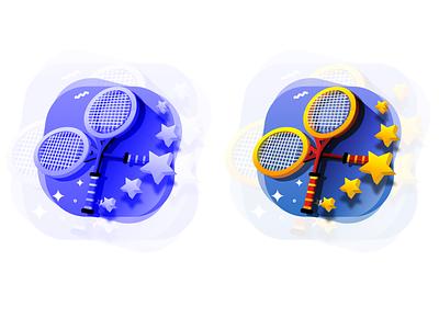 Season 2: Long Tanning Bat flat ui design vector illustration gamification games icon tennis games tennis racket illustration tennis sports icon tennis racket icon tennis illustration tennis icon