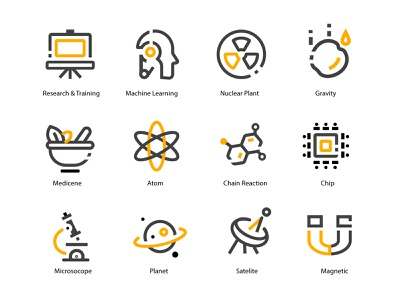 4Px  Science Icon Stroke and more.. branding ux ui illustrations vector flat icon illustration magnet icon outline satellite icon planet icon microscope icon atom icon chip icon outline science icon pack nuclear plant icon machine learning icon