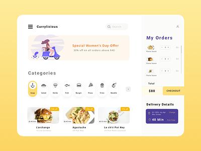 Food Ordering App Exploration UX and UI app saas app saas icon modern interface illustration ui ux user interface for food ux ui restaurant app food ordering app ui food ordering app ux