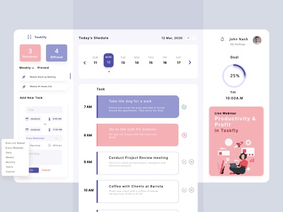 What's your Schedule Looks Like? app user experience design user interface saas dashboard planner ux ui daily task planner calendar ui calendar app planning app routine ui daily routine tracker