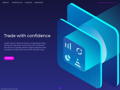 WEBSITE MOCKUP FOR A FINANCE TRADING FIRM daily ui finance website trading website home page graphic design ux isometric web web design