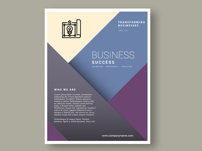 Brochure/Poster Cover for a Business Consulting Firm icons illustration shapes design vector visual identity branding identity flyers posters brochure business consulting