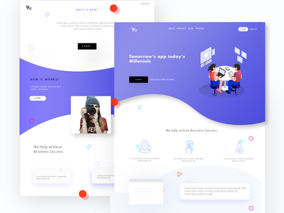 Web UI/UX for  an Innovative App dailyui user experience design layout app landing page prototyping illustration icons isometric web design ux ui