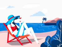 Beach Illustration Inspired by Norde Designer for a Beach Resort