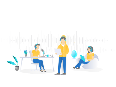 Illustration for a Sound- Tech Startup by Himanshu Sharma - Dribbble