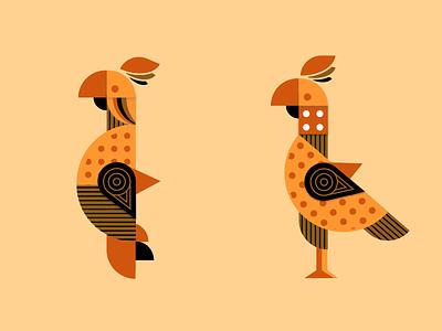 Symmetrical Parrot geometric pattern geometric parrot bird illustration bird logo parrots shapes geometric art geometric design art parrot bird