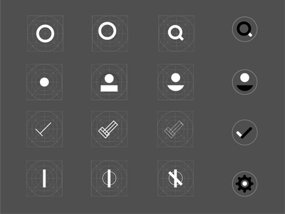 Basic System Icons Step by Step Process material design functional icon product design product icons system icons icon grid settings icon username icon search icon iconography flat icons dailyui vector ux ui