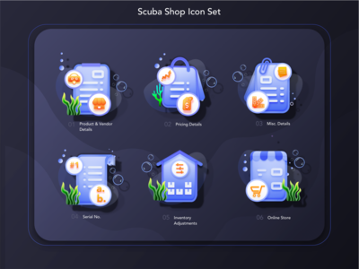 6 Scuba Set Icon Pack - Your Feedback helps.!!