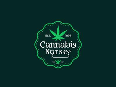 Cannabis Nurse Marijuana Logo