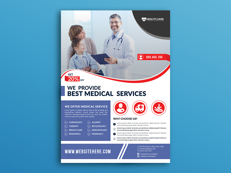 Medical Flyer (Free Download) by Shaikul Islam on Dribbble