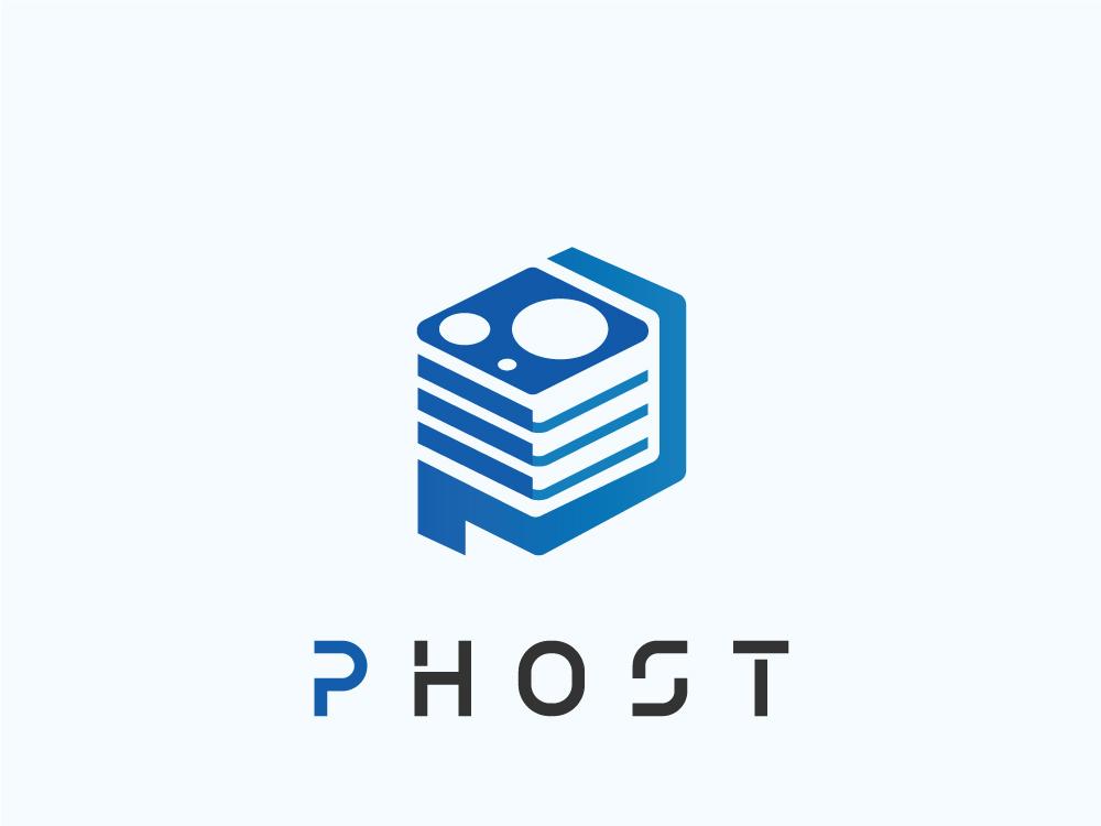 P Host p data data analysis data center p hosting logo hosting p logo p letter alphabet ssd p server logo server p host hosting template host