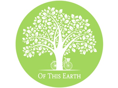 Of This Earth Logo tree leaves bike vintage green earth foliage