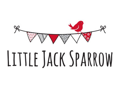 Little Jack Sparrow bunting sparrow red black grey white kids children fun vintage