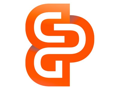 Custom Design Graphics orange bold letter play
