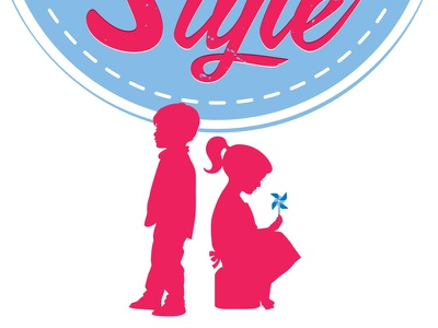 Kids With Style kids pinwheel style boy girl silhouette letterpress