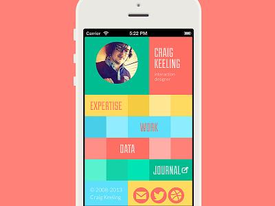 Website refresh (craigkeeling.com) mobile first portfolio flat