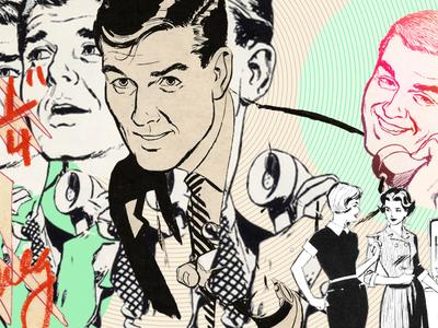 phone call pixelmator illustration vintage collage