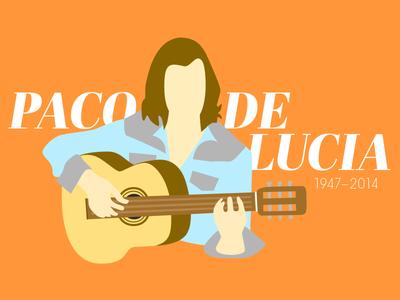 Paco De Lucia illustration tribute music flamenco