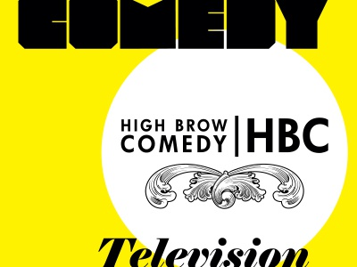 High Brow Comedy poster concept graphic design