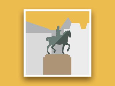 Formsaachen Aachen Equestrian Statue Illustration