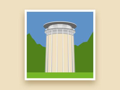 Formsaachen Aachen Drehturm Belvedere Illustration