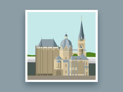 Formsaachen Aachen Cathedral Illustration