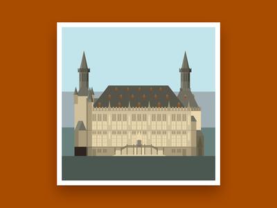Formsaachen Aachen Town Hall Illustration