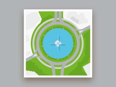 Formsaachen Aachen Europaplatz Illustration