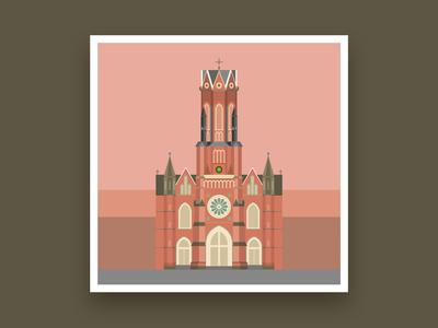Formsaachen Aachen St Josephs Church Illustration
