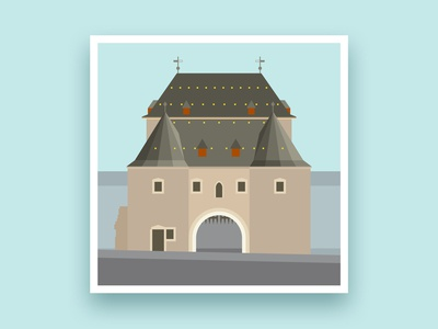 Formsaachen Aachen Ponttor Illustration