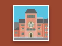Formsaachen Aachen Monastery St Alfons Illustration